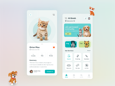 pet app ui 02   1 application mobile app designs design app design app ui design uiux ux ui