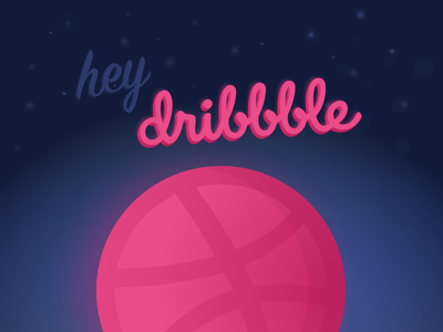 Planet Dribbbble vector space debut dribbble