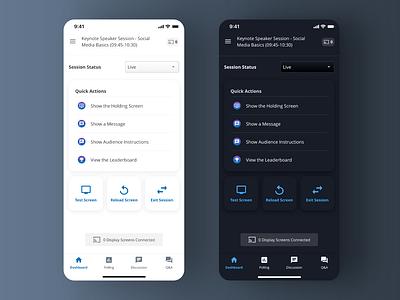 App Dashboard Dark Mode application ui design mobile ui mobile