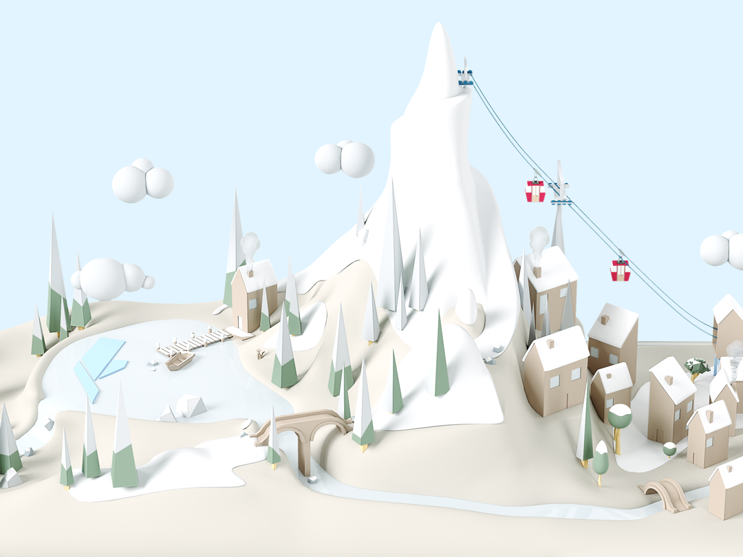 Aquaris X2 Winter RRSS model lowpoly winter cgi render textures illustration design 3d art