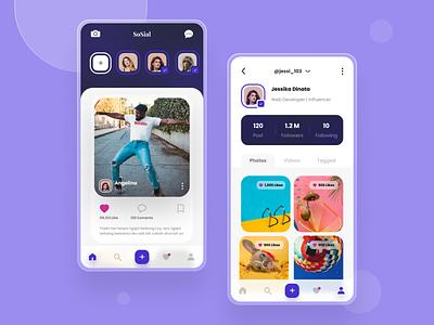 Social Media App social media mobile app mobile figmadesign figma uiux ui design ui