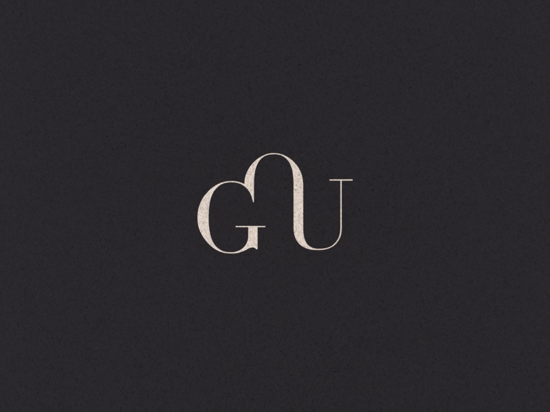 GOU Monogram branding vector logo typogaphy monogram icon design