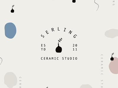 Ceramic Studio Logo ceramics design branding logo