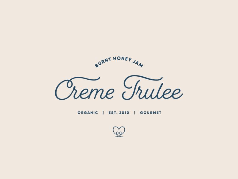 Creme Trulee icon design typogaphy vector jam branding logo