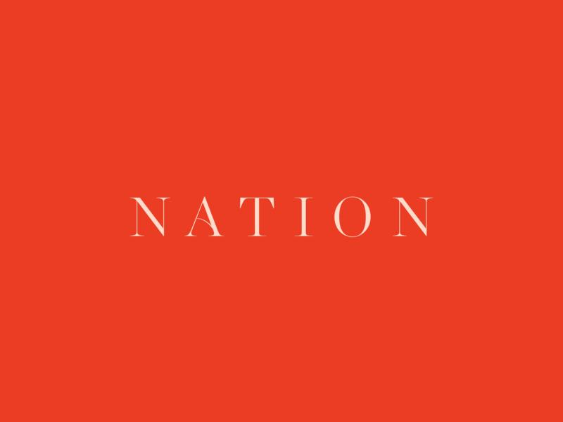 Nation identity designer fashion brand logo