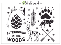 SiteGround In The Wood Tattoo Set