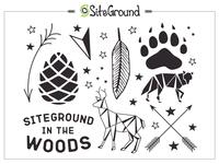 SiteGround In The Wood Tattoo Set animals origami woods branding gift tattoo tattoo art temporary tattoo design
