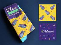 WordCamp Miami 2018 Limited Socks miami wordcamp pineapple vector illustration design branding socks