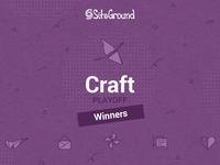 SiteGround Craft Playoff Winners