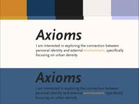 More Color Studies - Axioms