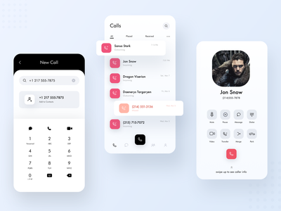 Multi-line Phone App & Extensions sms plugin mobile conference contact email extension gsuite salesforce ux ui profile log video note message chat call app phone