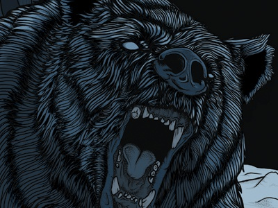 Cave Bear bear drawing illustration teeth rawr winter ice age