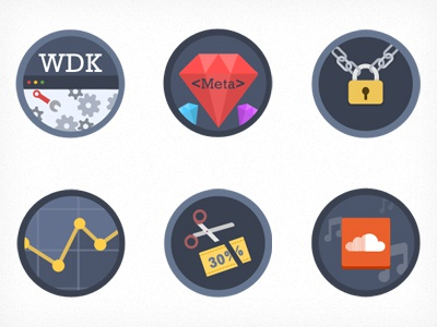 Create Badges flat badge wdk meta padlock graph discount scissors soundcloud analytics ssl