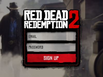 Red Dead Redemption 2 Signup #001 cowboy gaming game signup interface input form ui redemption dead red