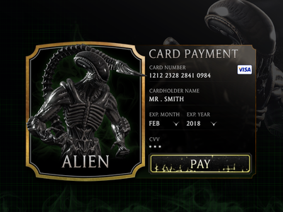 Alien Checkout #002 mortal kombat checkout payment checkout mortal kombat x alien ui interface gaming game form