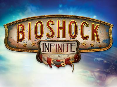 Bioshock Infinite Logo Concept ui challenge bioshock infinite freebie gaming ui steampunk logo bioshock