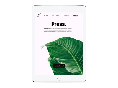 Daily UI 51 - Press Page leaves leaf nature green plants plant press page press interface dailyui51 daily ui challenge daily ui ui app application design
