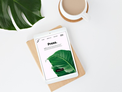 Daily UI 51 - Press Page / In Context press page press leaves leaf green plants plant nature dailyui51 interface daily ui challenge daily ui ui app application design