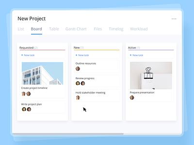 Wrike Kanban motion design platform project management web design product design ui product animation design wrike kanban