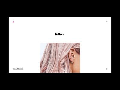 #02 - website concept for a hair salon / gallery page