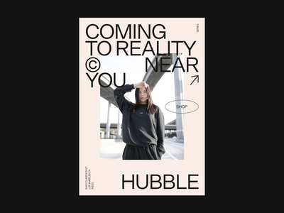Poster design for Hubble's capsule collection visual poster editorial design editorial illustration branding clean ui typography minimal design