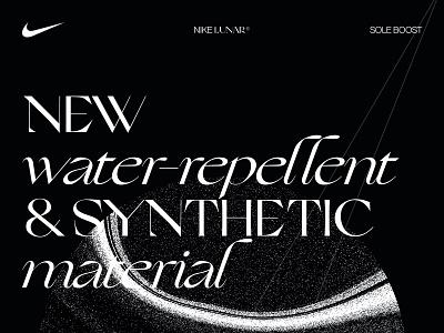 Nike Lunar Sole Boost boost sole lunar nike concept ux editorial web ui design branding ui typography minimal design clean