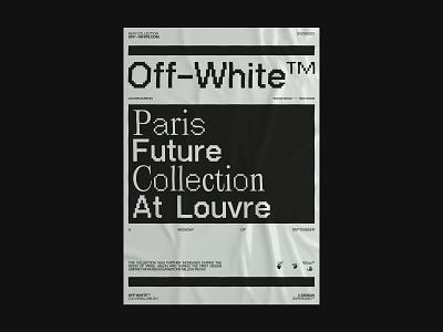 Off-White™ Paris Future Collection at the Louvre event fashion paris virgil abloh off-white editorial concept web ux ui design branding ui typography minimal design clean