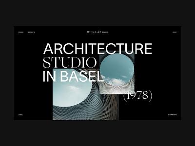 Herzog & de Meuron Architecture Studio studio swiss interior architecture editorial concept website webdesign web ux ui design branding ui typography minimal design clean