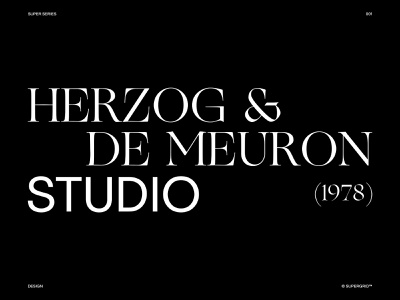 Herzog & de Meuron Architecture Studio studio architecture series concept website ux ui design branding ui typography minimal design clean
