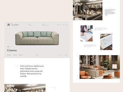 ZB craft interior design experience branding luxury website webdesign web ux ui design ui typography minimal design clean