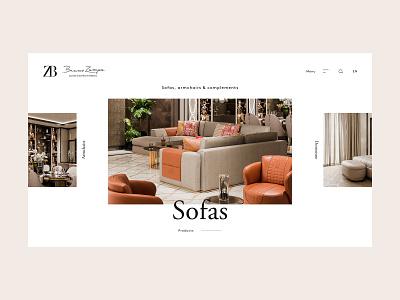 ZB products archive navigation interior design furniture crafted branding website webdesign minimal web ux ui design ui typography design clean