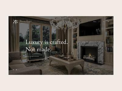 ZB furniture interior design experience luxury branding website webdesign web ux ui design ui typography minimal design clean