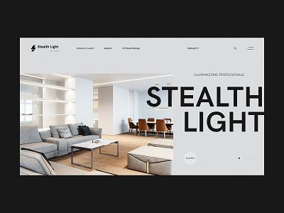 Stealth minimal home design lightning lights interior design branding website webdesign web ux ui design ui typography minimal design clean