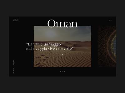 Brera travel detail oman luxury events branding website webdesign web ux ui design ui typography minimal design clean