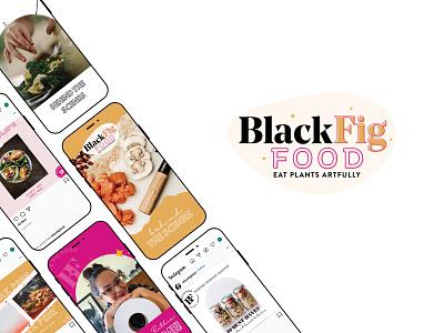 Black Fig Food Branding & Instagram Design foodie instagram stories instagram instagram template logo design logo branding