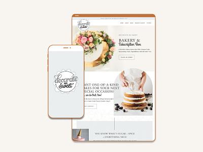 Branding & Website for a Cake Bakery bakery cakery subscription box website logo design logo branding