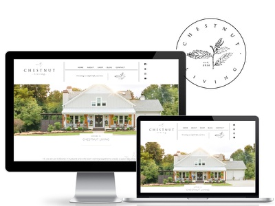 Chestnut Living Website wordpress website divi home remodel interior designer fixer upper