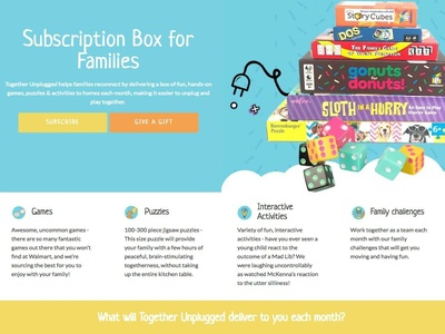 Cratejoy design for Together Unplugged Subscription Box subscription box unplug cratejoy