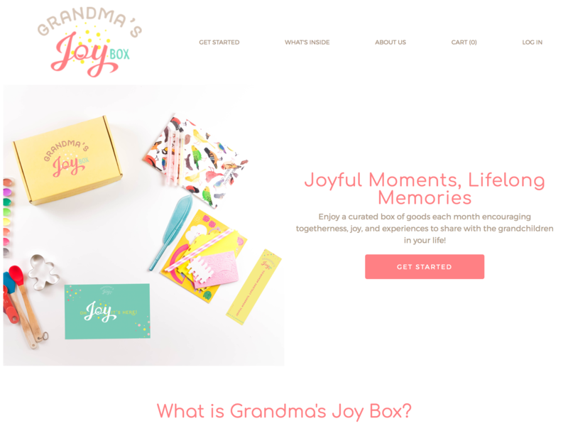 Grandma's Joy Box | Subscription Box cratejoy logo subscription box