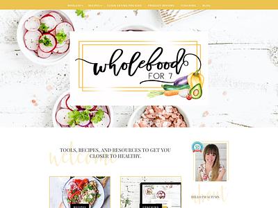 Wholefoodfor7   Website Design recipes health coach whole30 divi wordpress
