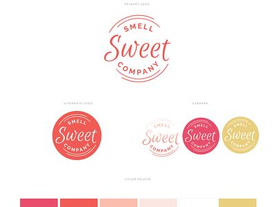 Smell Sweet Branding sweet branding deodorant logo design