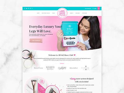 All Girl Shave Club Website Design website design shave club subscription box