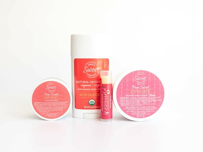 Smell Sweet Label Designs logo design lip balm deodorant organic label design