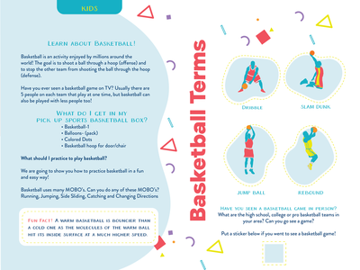 Booklet Design for Sports Subscription for Kids kids sports subscription box booklet design