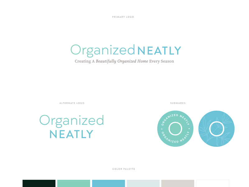 Branding for Organized Neatly clean branding logo subscription box
