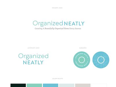 Branding for Organized Neatly clean branding logo subscription box