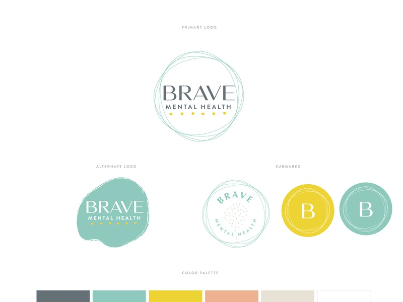 Mental Health Brand Board logo mental health branding brave