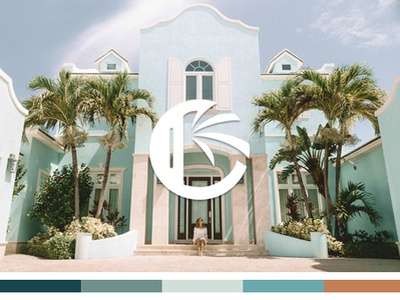 Submark for a Caribbean Landscaping Company branding caribbean palm submark logo landscaping