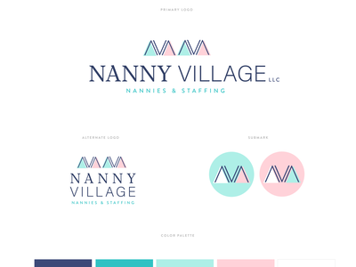 Nanny Village Branding agency staffing agency branding agency saffing nanny village logodesign logo branding nanny