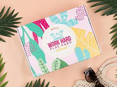 Subscription Box Design work hard play hard box design box retreat sparkle hustle grow package design subscription box
